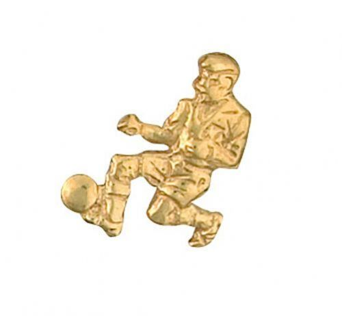 Footballer Football Lapel Pin Cravat Pin Gold Made in Jewellery Quarter B''ham